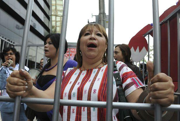 Protest Meksykanek przeciwko więzieniu sześciu kobiet oskarżonych o aborcję, 2010 r.