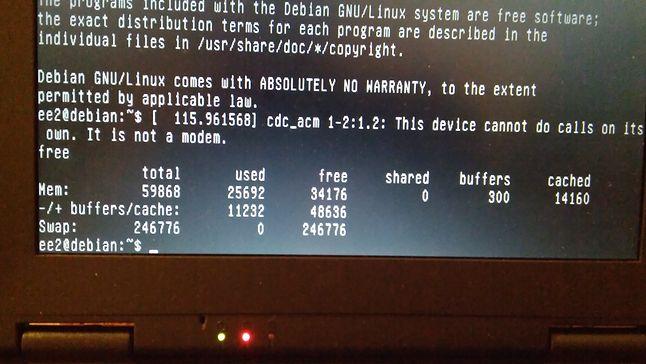 Zużycie pamięci - Debian