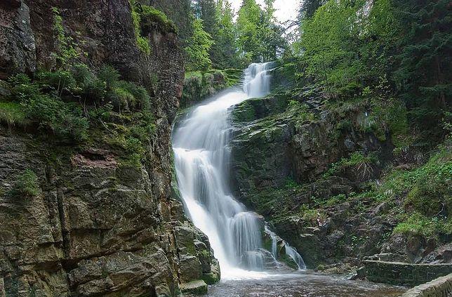 Widok na Wodospad Kamieńczyka w Karkonoszach