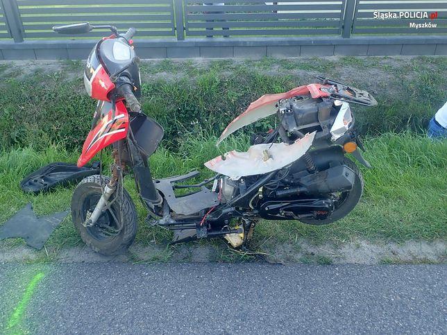 śląskie. Motorowerzysta zginął po zderzeniu z samochodem.