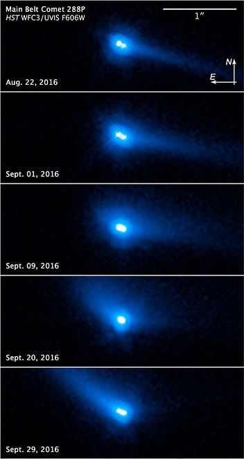 Planetoidy 288P w obiektywie Teleskopu Hubble'a