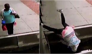 Zapatrzyła się w telefon i wpadła do 2-metrowej piwnicy