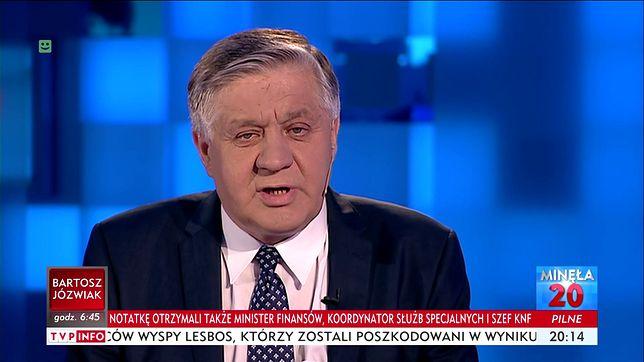 Minister rolnictwa Krzysztof Jurgiel w TVP INFO.