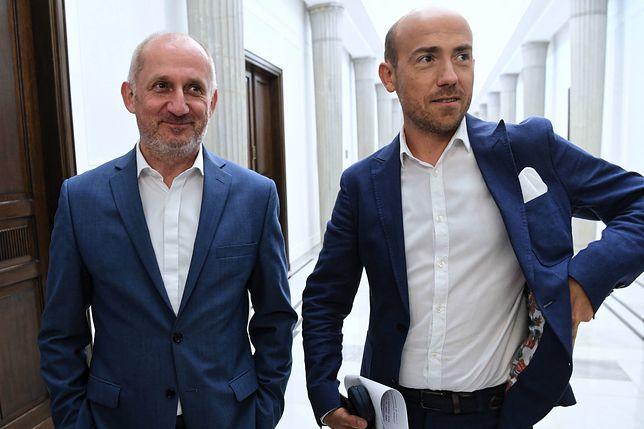 Wybory parlamentarne 2019. Szef klubu PO-KO Sławomir Neumann i wiceprzewodniczący Platformy Borys Budka