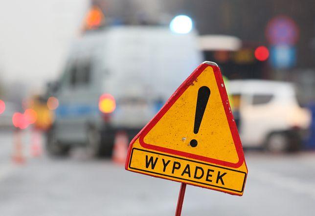 Wielkopolska,.Wypadek na DK 10. Droga zablokowana