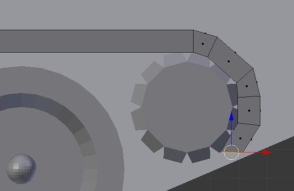 Przesunięcie w serii: Extrude, przesunięcie, rotacja w widoku Front Ortho