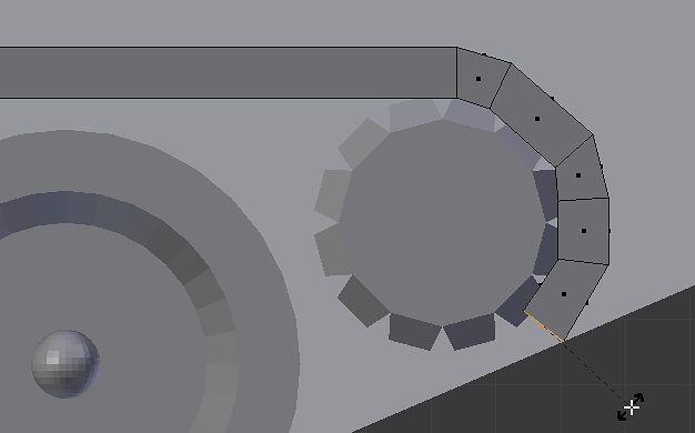 Rotacja w serii: Extrude, przesunięcie, rotacja w widoku Front Ortho
