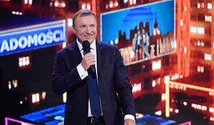Prezes TVP Jacek Kurski podczas konferencji ramówkowej Telewizji Polskiej.