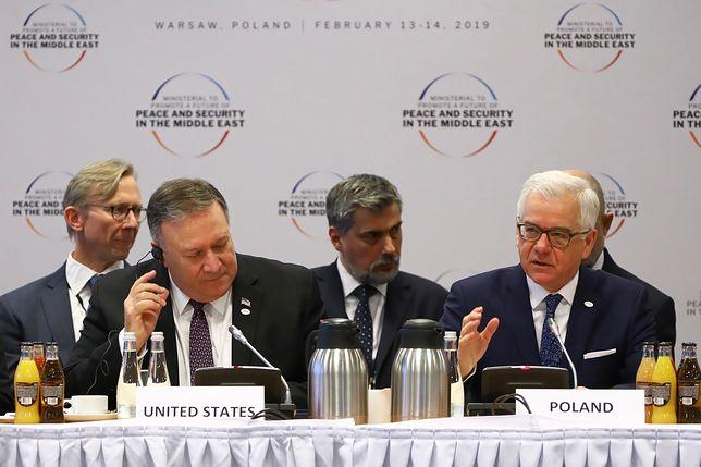 Jacek Czaputowicz i Mike Pompeo przemawiali podczas otwarcia sesji plenarnej
