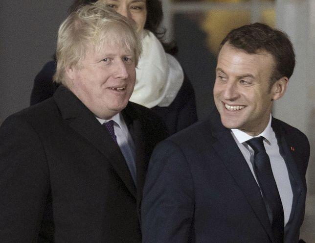 Premier Wielkiej Brytanii Boris Johnson oraz prezydent Francji Emmanuel Macron