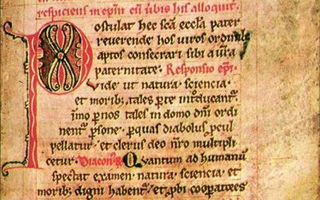 Fragment manuskryptu