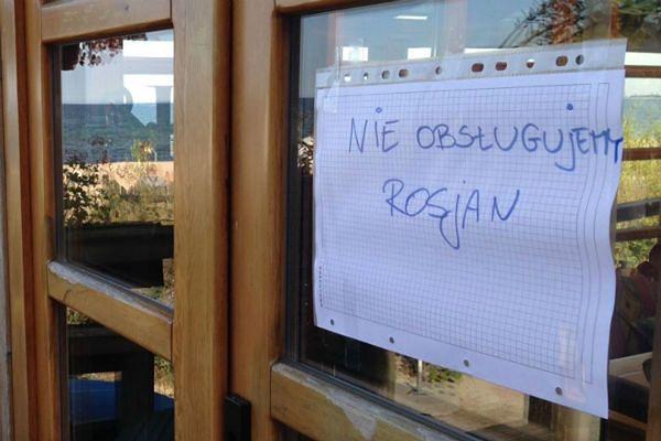 """""""Nie obsługujemy Rosjan"""" - protest sopockiej restauracji"""