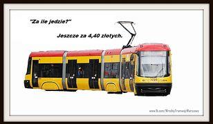 Po Warszawie jeździ wredny tramwaj [ZDJĘCIA]