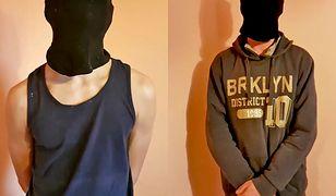 Dwóch chłopców z zakrytymi twarzami przepraszało za złe zachowanie wobec dziewczyn w autobusie