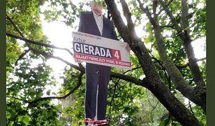 """Wybory parlamentarne 2019. """"Powieszono"""" baner Artura Gierady. Poseł KO reaguje"""