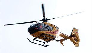 Śmigłowiec przetransportował dziecko do szpitala w Olsztynie
