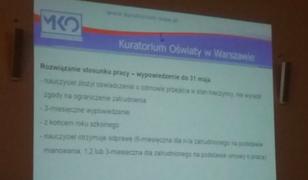 """Kuratorium podpowiada, jak zwalniać nauczycieli? """"To nieprawda, to tylko jeden slajd z prezentacji"""""""