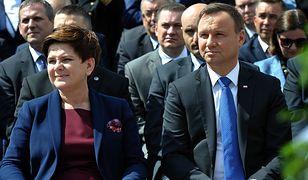 Premier Beata Szydło i prezydent Andrzej Duda.