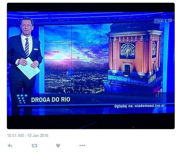 """W """"Wiadomościach"""" Zamek Królewski zamiast Pałacu Kultury. Twitter zareagował"""