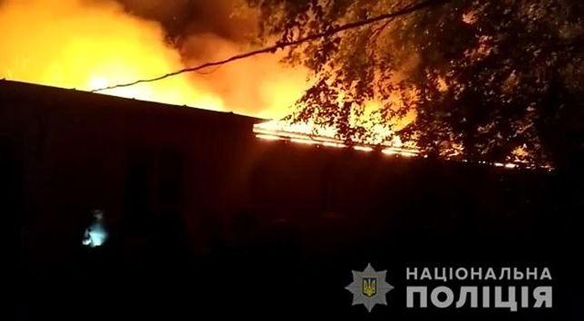 Pożar w Odessie na południu Ukrainy