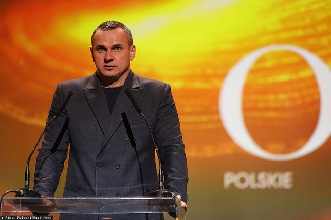 """Orły 2020: Oleg Sencow pojawił się na gali po wyjściu z więzienia. """"Będę kontynuował swoją walkę z wrogiem"""""""