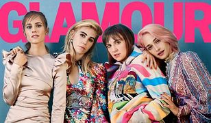 """Aktorki z serialu """"Dziewczyny"""" na okładce """"Glamour"""" bez retuszu"""