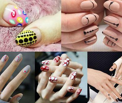 Kropki mogą tworzyć na paznokciach wiele niepowtarzalnych kompozycji (fot. heather vette makeup, tamaradilullo, unistella)