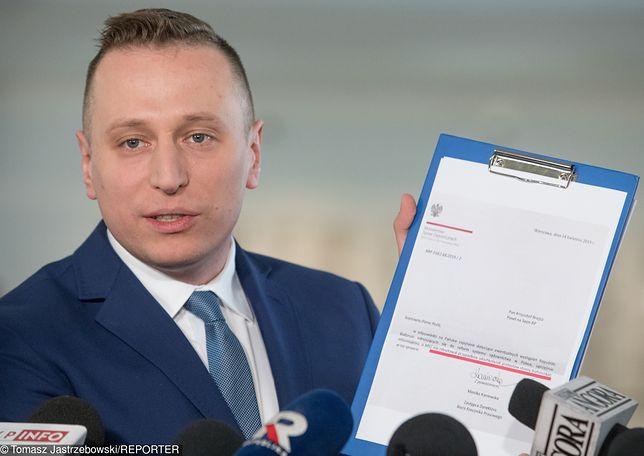 Według Krzysztofa Brejzy, Jarosław Kaczyński popełnił wykroczenie