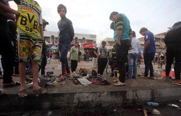 Miejsce zamachu w Iraku