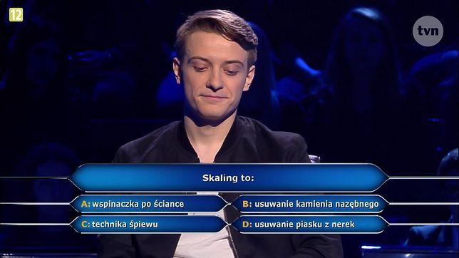 """""""Skaling to"""" takie pytanie usłyszał jeden z uczestników teleturnieju """"Milionerzy"""". Sprawdzamy jaka jest właściwa odpowiedź na to pytanie"""