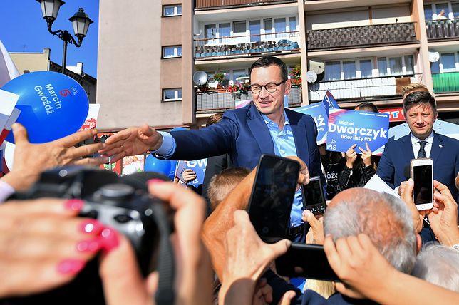 Wybory parlamentarne 2019. Mateusz Morawiecki przed Świdnicą odwiedził Ząbkowice Śląskie