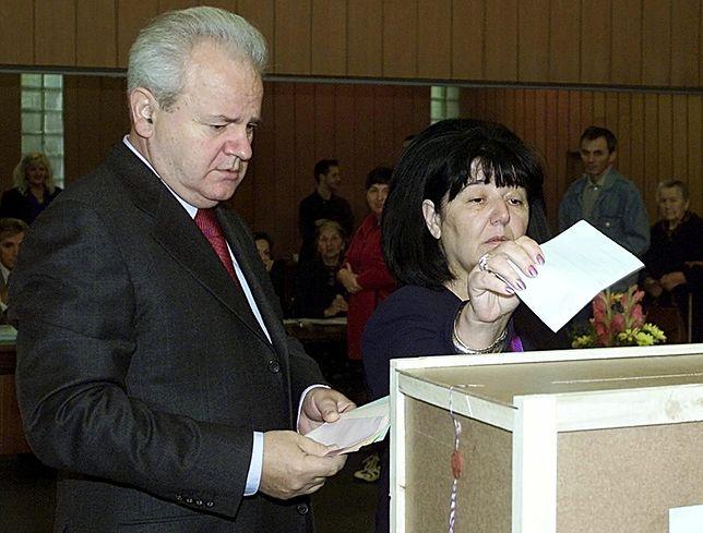 Slobodan Miloszević i jego żona Mira Marković