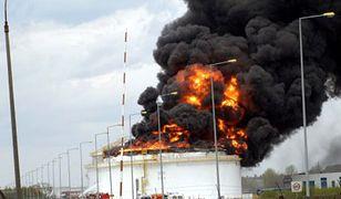 Pożar w Rafinerii Gdańskiej (Fot.PAP/Stefan Kraszewski)