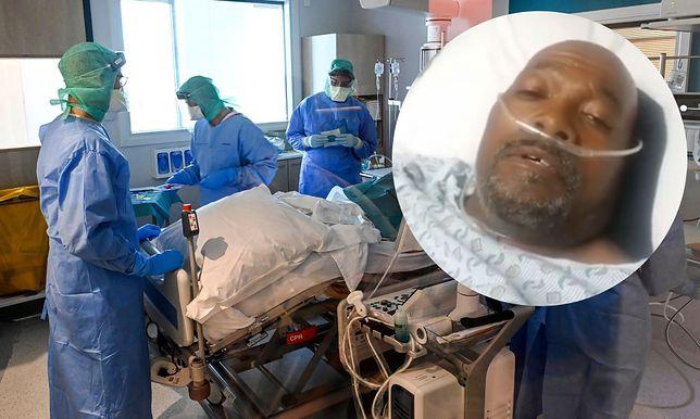 Koronawirus. 55-letni Kevin Harris pokonał wirusa. Swoje przeżycia opisał w poruszającym filmie ze szpitala