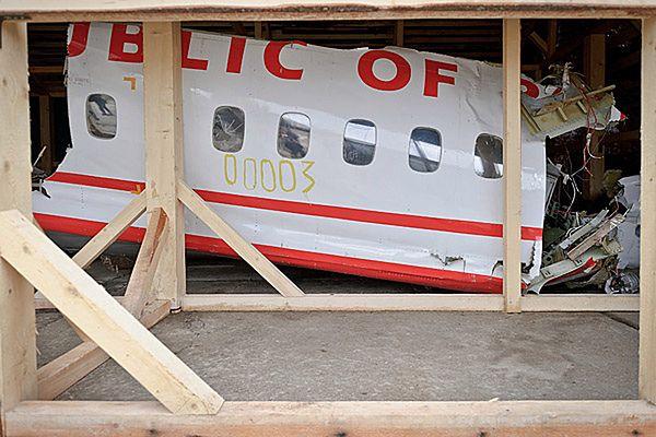 Wrak samolotu prezydenckiego Tu-154M