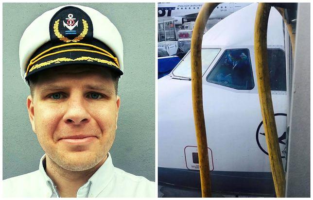 Dziennikarz przyznał, że ma pewne obawy przed lataniem