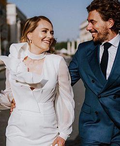 Jak z bajki! Magdalena Lamparska pokazała suknię ślubną