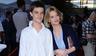 Monika Zamachowska stara się wspierać syna w jego wyborach
