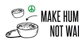 """""""Make Hummus - Not Walls"""""""