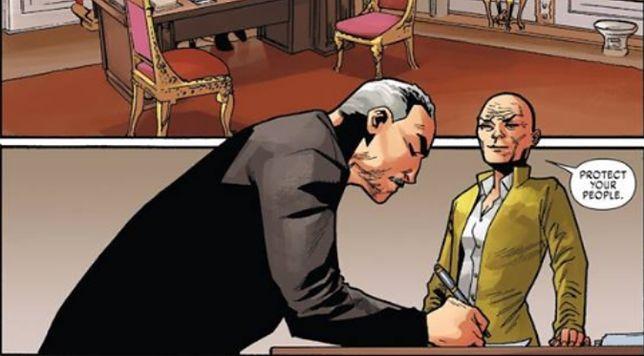 """Kadr z piątego numeru """"X-Men Red"""""""