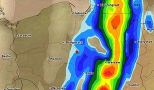 Prognoza opadów po godz. 18 w piątek 10 sierpnia. To wtedy burze i ulewy, które przyniesie niż będą najgwałtowniejsze
