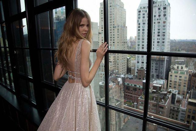 Polska modelka w delikatnych sukniach ślubnych