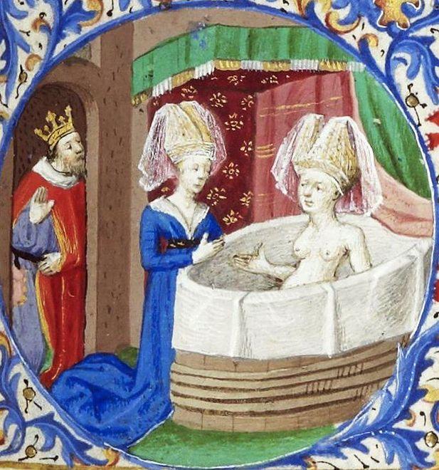 Tak w kąpieli wyglądała bliska krewna naszej królowej Jadwigi, królowa Neapolu Joanna