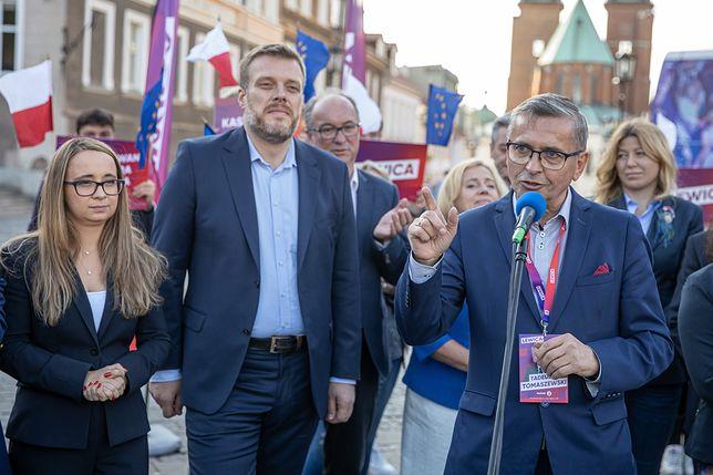 Wybory parlamentarne 2019. Politycy Lewicy spotkali się z wyborcami w Toruniu