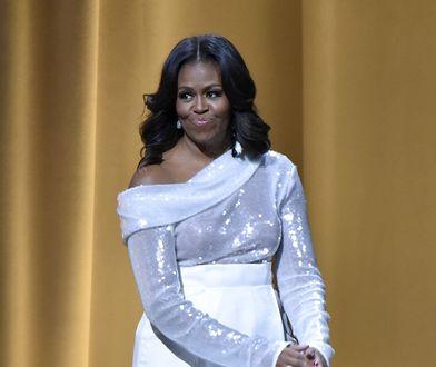 Michele Obama zaprezentowała się w białym komplecie