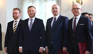 Rekonstrukcja rządu. Łukasz Szumowski, Andrzej Duda, Joachim Brudziński i Jacek Czaputowicz