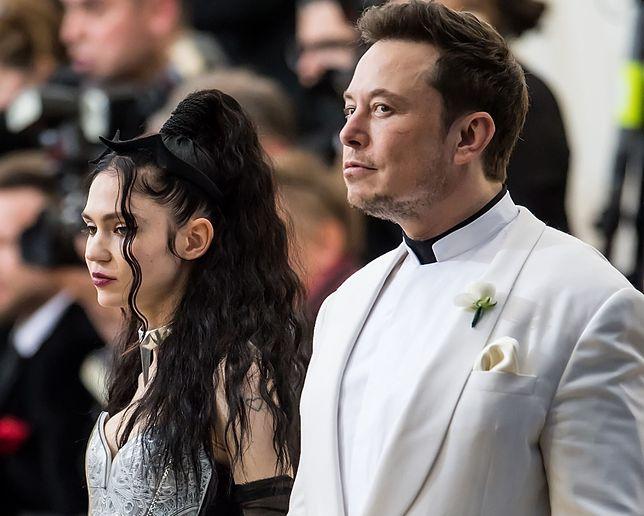 Piosenkarka Grimes i Elon Musk
