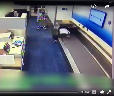 Cała akcja została zarejestrowana na lotniskowych kamerach