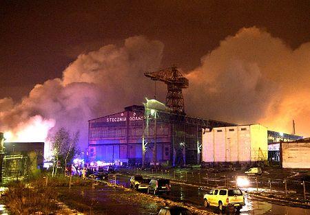 Pożar w Gdańsku: straty sięgają kilkunastu milionów euro