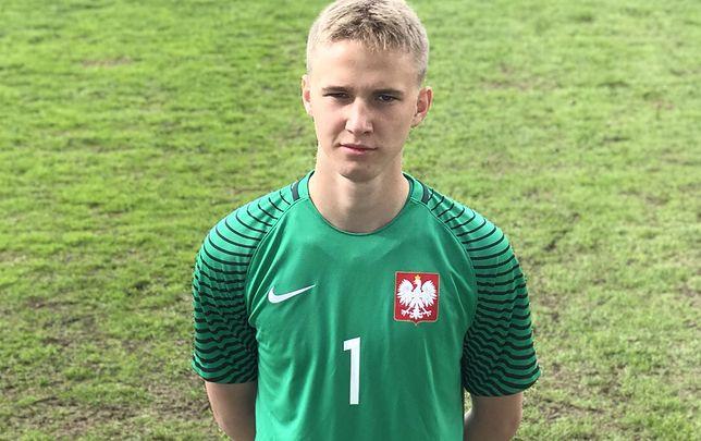 Oliwier Zych w koszulce reprezentanta Polski